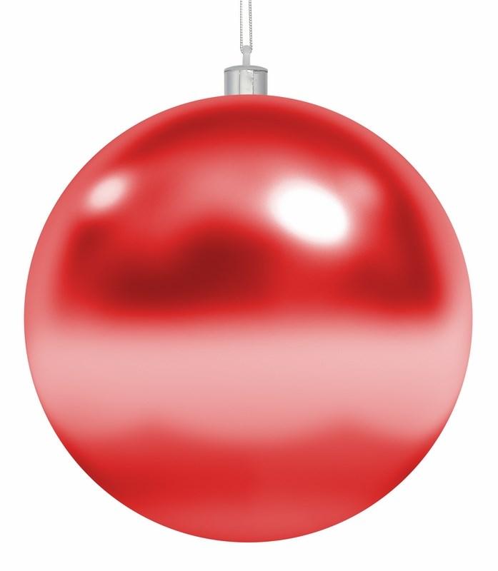 Украшение новогоднее подвесное Neon-Night Шар, цвет: красный, 25 см502-012Елочная фигура Шар, 25 см, цвет красный глянцевый, из пластика