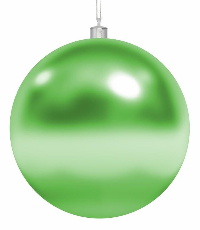 Украшение новогоднее подвесное Neon-Night Шар, цвет: зеленый, 25 см502-014Елочная фигура Шар, 25 см, цвет зеленый глянцевый, из пластика