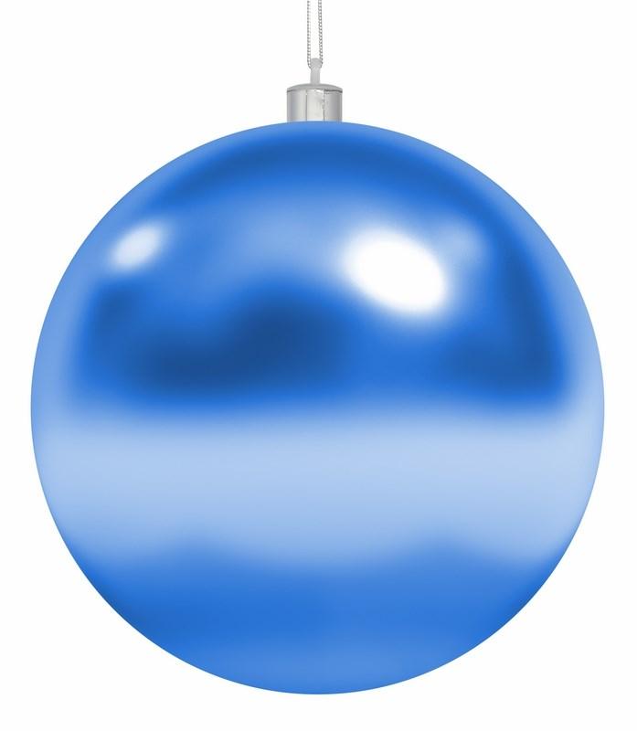Украшение новогоднее подвесное Neon-Night Шар, цвет: синий, 30 см502-023Елочная фигура Шар, 20 см, цвет синий глянцевый, из пластика