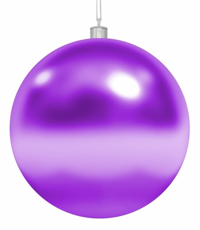 Украшение новогоднее подвесное Neon-Night Шар, цвет: фиолетовый, 30 см502-027Елочная фигура Шар, 30 см, цвет фиолетовый глянцевый, из пластика
