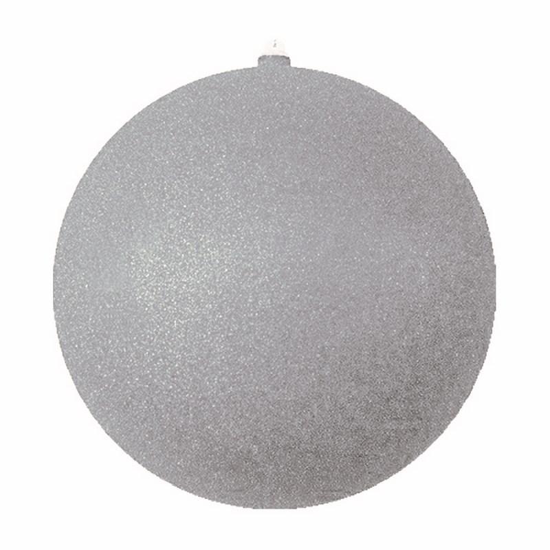 Украшение новогоднее подвесное Neon-Night Шар с блестками, цвет: серебряный, 20 см502-035Елочная фигура Шар с блестками, 20 см, из пластика, цвет серебряный с блестками