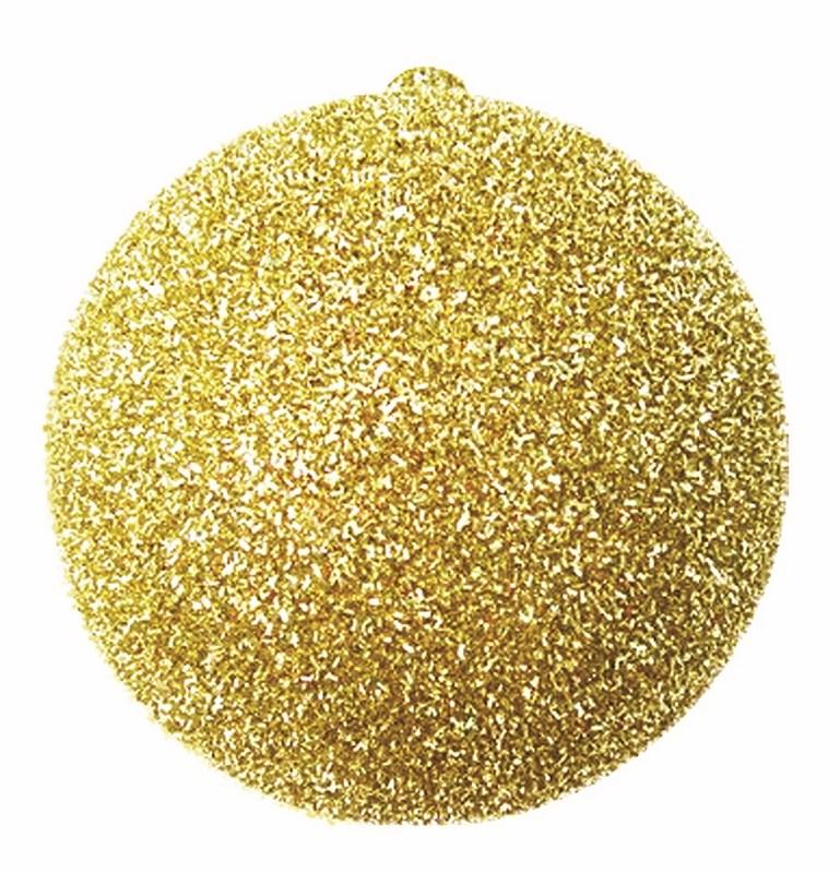 Украшение новогоднее подвесное Neon-Night Шар с блестками, цвет: золотой, 25 см502-041Елочная фигура Шар с блестками, 25 см, из пластика, цвет золотой с блестками