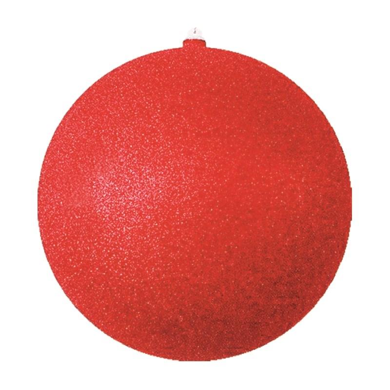 Украшение новогоднее подвесное Neon-Night Шар с блестками, цвет: красный, 25 см502-042Елочная фигура Шар с блестками, 25 см, из пластика, цвет красный с блестками
