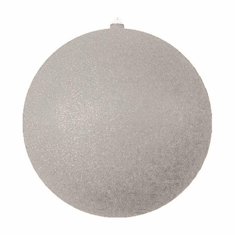 Украшение новогоднее подвесное Neon-Night Шар с блестками, цвет: серебряный, 30 см502-055Елочная фигура Шар с блестками, 30 см, из пластика, цвет серебряный с блестками