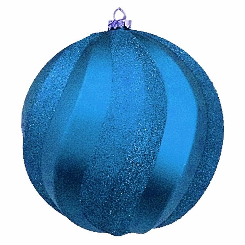 Украшение новогоднее подвесное Neon-Night Шар Вихрь, цвет: синий, 20 см новогоднее подвесное украшение собака ф21 1716