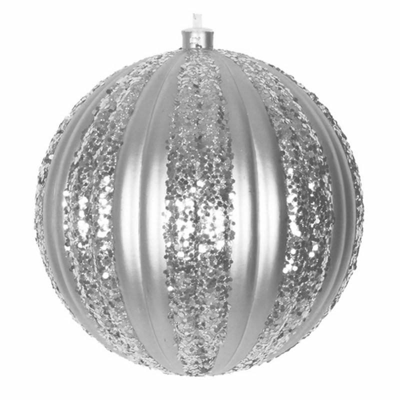 Украшение новогоднее подвесное Neon-Night Полосатый шар, цвет: серебряный, 20 см502-076Новогоднее подвесное украшение Neon-Night отлично подойдет для декорации вашего дома и новогодней ели. Новогоднее украшение можно повесить в любом понравившемся вам месте. Но, конечно, удачнее всего оно будет смотреться на праздничной елке.Елочная игрушка - символ Нового года. Она несет в себе волшебство и красоту праздника. Такое украшение создаст в вашем доме атмосферу праздника, веселья и радости.