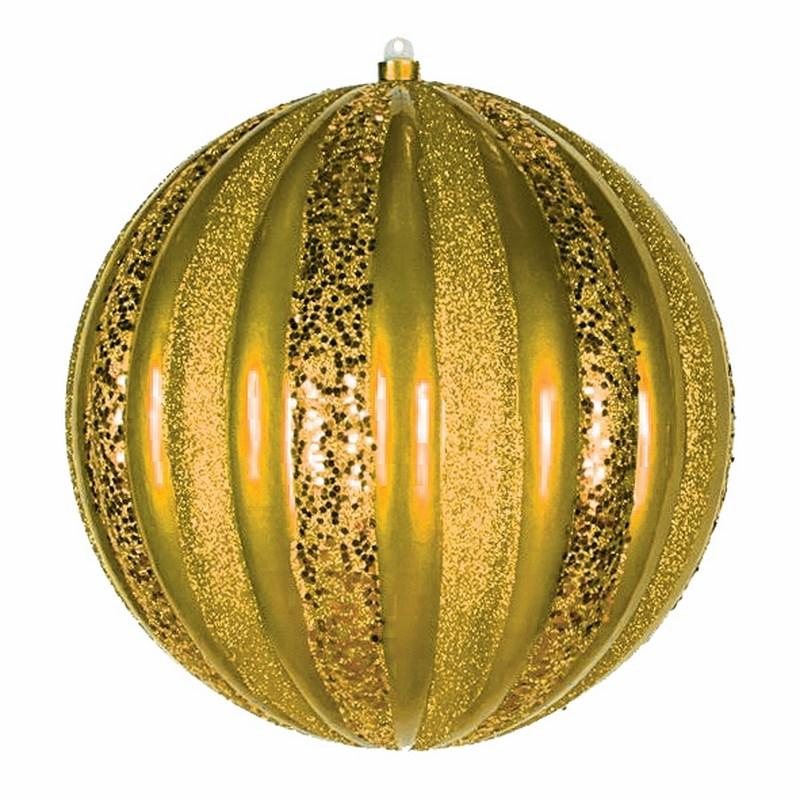 Украшение новогоднее подвесное Neon-Night Арбуз, цвет: золотой, 25 см502-081Новогоднее подвесное украшение Neon-Night отлично подойдет для декорации вашего дома и новогодней ели. Новогоднее украшение можно повесить в любом понравившемся вам месте. Но, конечно, удачнее всего оно будет смотреться на праздничной елке.Елочная игрушка - символ Нового года. Она несет в себе волшебство и красоту праздника. Такое украшение создаст в вашем доме атмосферу праздника, веселья и радости.