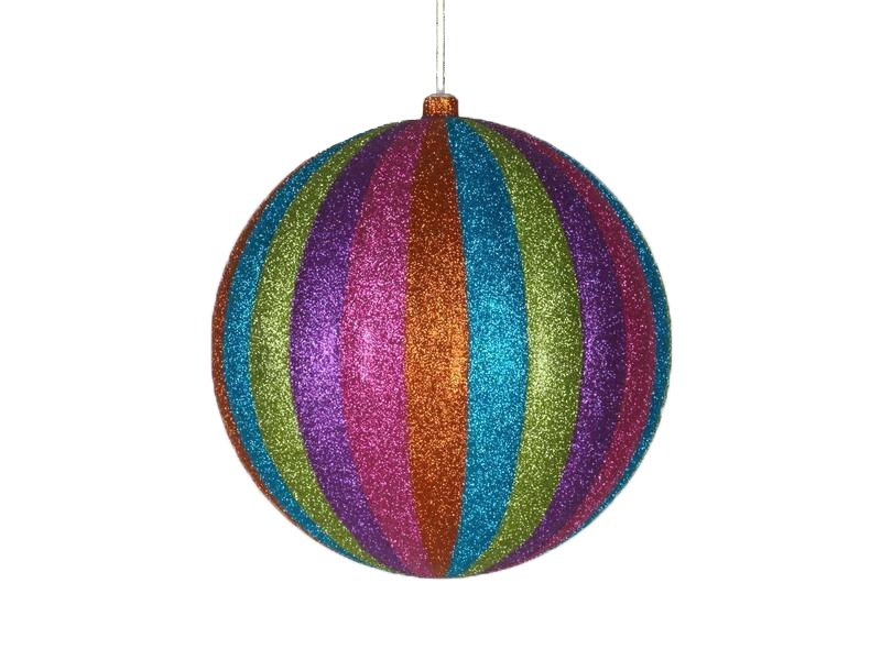 Украшение декоративное Neon-Night Карусель, цвет: мульти, 25 см502-089Елочная фигура Карусель 25 см, из пластика, полосатая, цвет мульти с блестками