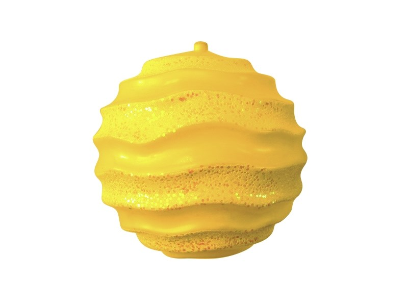 Украшение новогоднее подвесное Neon-Night Шар с юбочкой, цвет: золотой, 30 см502-091Елочная фигура Шар с юбочкой, 30 см, цвет золотой матовый и с блестками