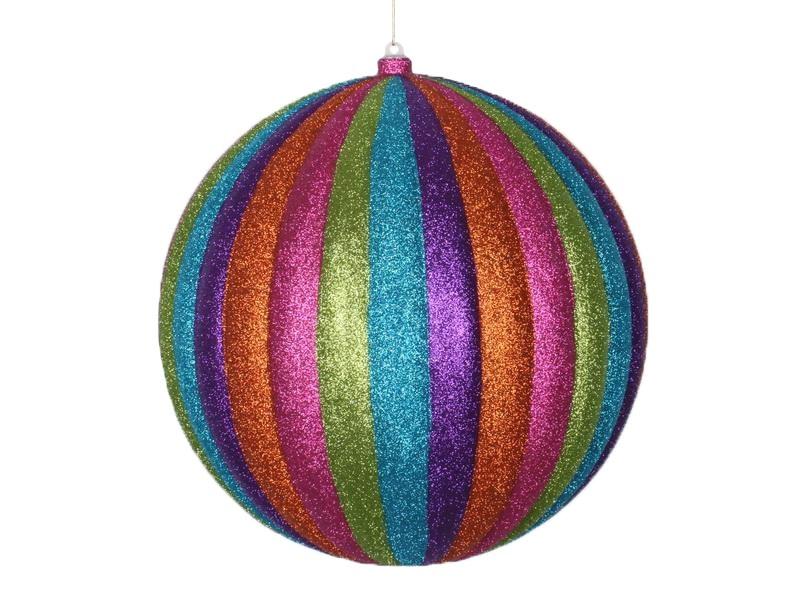 Украшение декоративное Neon-Night Карусель, цвет: мульти, 30 см502-099Елочная фигура Карусель 30 см, из пластика, полосатая, цвет мульти с блестками