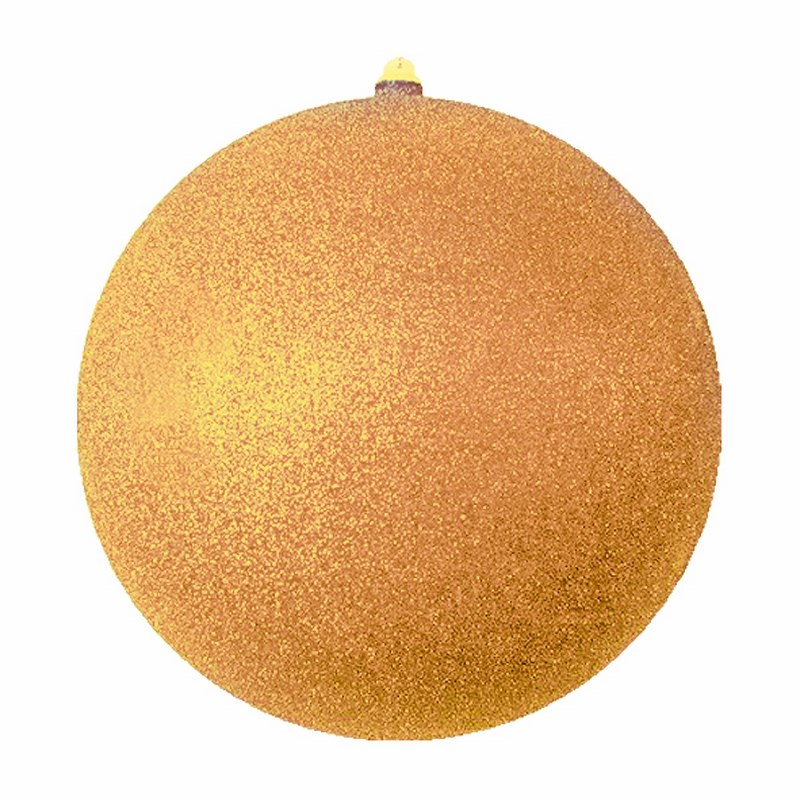 Украшение новогоднее подвесное Neon-Night Шарик, цвет: золотой, 20 см502-131Елочная фигура Шарик, 20 см, цвет золотой с блестками, из пластика
