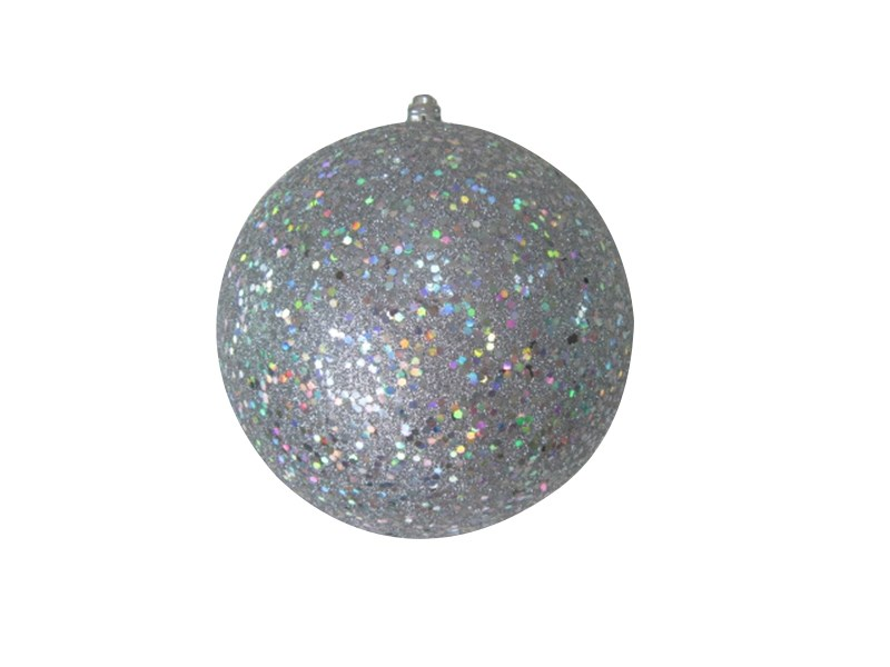 Украшение новогоднее подвесное Neon-Night Шарик, цвет: серебряный, 20 см502-135Елочная фигура Шарик , 20 см, из пластика, цвет серебряный с блестками