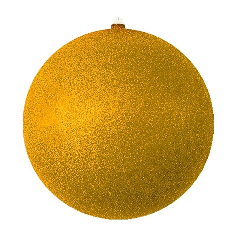 Украшение новогоднее подвесное Neon-Night Шарик, цвет: золотой, 25 см502-141Елочная фигура Шарик, 25 см, из пластика, цвет золотой с блестками