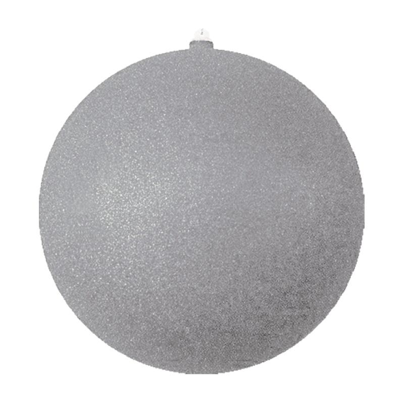 Украшение новогоднее подвесное Neon-Night Шарик, цвет: серебряный, 25 см новогоднее подвесное украшение собака ф21 1716