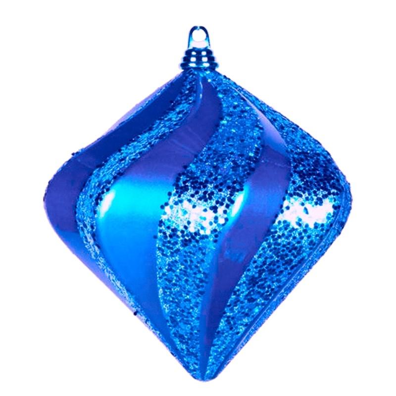 Украшение новогоднее подвесное Neon-Night Алмаз, цвет: синий, 15 см502-163Елочная фигура Алмаз, 15 см, из пластика, цвет синий матовый и глянцевый