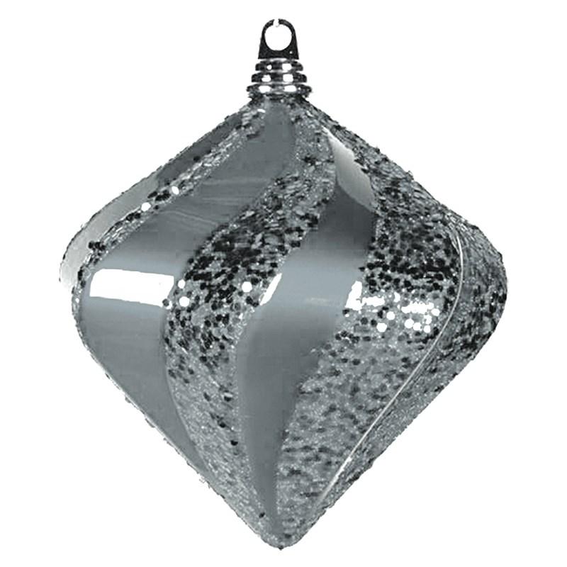 Украшение новогоднее подвесное Neon-Night Алмаз, цвет: серебряный, 20 см502-205Новогоднее подвесное украшение Neon-Night отлично подойдет для декорации вашего дома и новогодней ели. Новогоднее украшение можно повесить в любом понравившемся вам месте. Но, конечно, удачнее всего оно будет смотреться на праздничной елке.Елочная игрушка - символ Нового года. Она несет в себе волшебство и красоту праздника. Такое украшение создаст в вашем доме атмосферу праздника, веселья и радости.