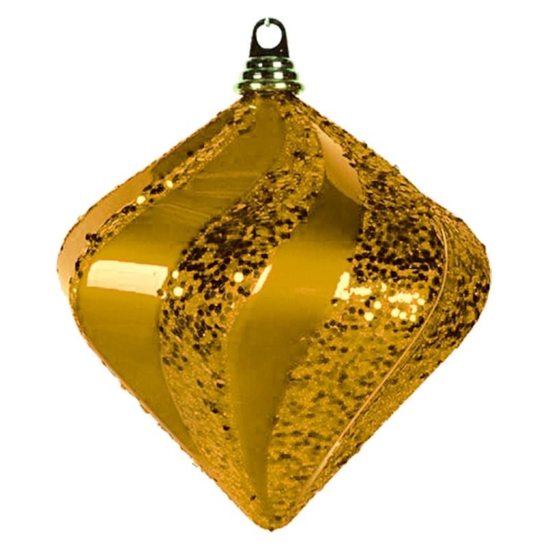 Украшение новогоднее подвесное Neon-Night Алмаз, цвет: золотой, 20 см502-206Новогоднее подвесное украшение Neon-Night отлично подойдет для декорации вашего дома и новогодней ели. Новогоднее украшение можно повесить в любом понравившемся вам месте. Но, конечно, удачнее всего оно будет смотреться на праздничной елке.Елочная игрушка - символ Нового года. Она несет в себе волшебство и красоту праздника. Такое украшение создаст в вашем доме атмосферу праздника, веселья и радости.