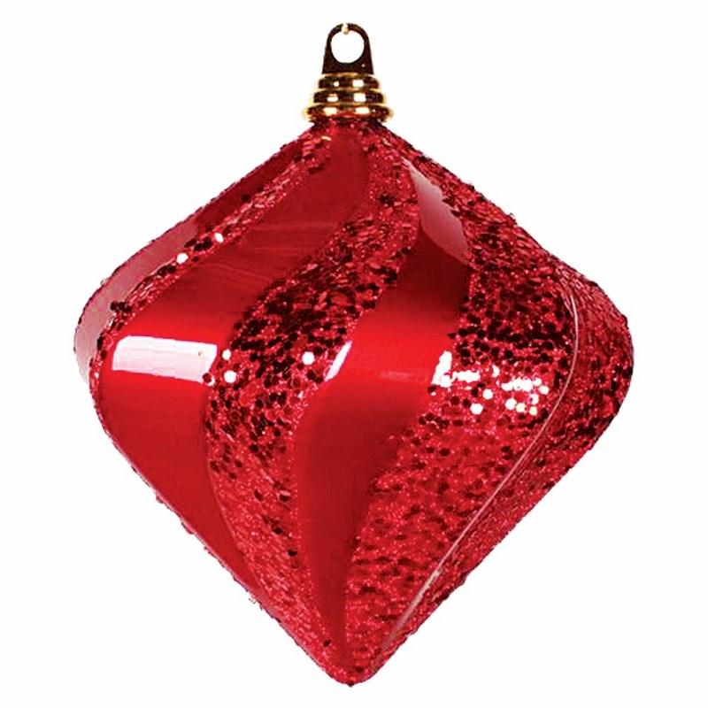 Украшение новогоднее подвесное Neon-Night Алмаз, цвет: красный, 25 см502-218Елочная фигура Алмаз, 25 см, из пластика, цвет красный матовый и глянцевый