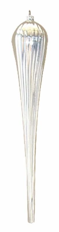 Украшение новогоднее подвесное Neon-Night Тающая сосулька, цвет: серебряный, 40 см новогоднее подвесное украшение собака ф21 1716