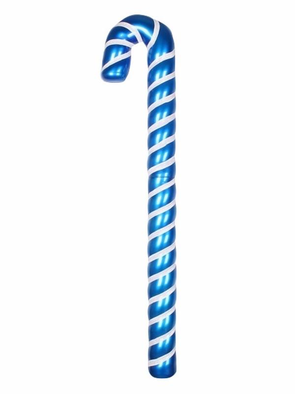 Украшение декоративное Neon-Night Карамельная палочка, цвет: синий, белый, 121 см502-243Елочная фигура Карамельная палочка, 121 см, из пластика, цвет фигуры синий с белыми полосками