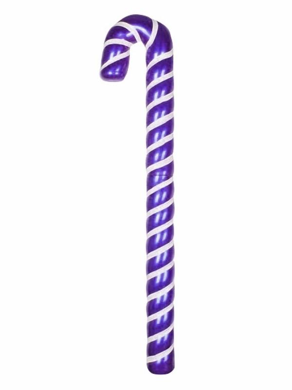 Украшение декоративное Neon-Night Карамельная палочка, цвет: фиолетовый, белый, 121 см502-247Елочная фигура Карамельная палочка, 121 см, из пластика, цвет фигуры фиолетовый с белыми полосками
