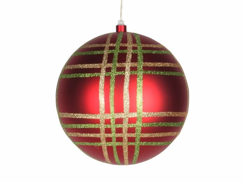Украшение новогоднее подвесное Neon-Night Шар в клетку, цвет: красный, 25 см502-262Новогоднее подвесное украшение Neon-Night отлично подойдет для декорации вашего дома и новогодней ели. Новогоднее украшение можно повесить в любом понравившемся вам месте. Но, конечно, удачнее всего оно будет смотреться на праздничной елке.Елочная игрушка - символ Нового года. Она несет в себе волшебство и красоту праздника. Такое украшение создаст в вашем доме атмосферу праздника, веселья и радости.