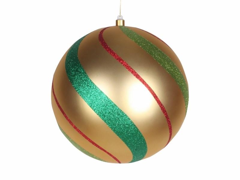 Украшение новогоднее подвесное Neon-Night Шар в полоску, цвет; золотой, зеленый, красный, 30 см502-276Новогоднее подвесное украшение Neon-Night отлично подойдет для декорации вашего дома и новогодней ели. Новогоднее украшение можно повесить в любом понравившемся вам месте. Но, конечно, удачнее всего оно будет смотреться на праздничной елке.Елочная игрушка - символ Нового года. Она несет в себе волшебство и красоту праздника. Такое украшение создаст в вашем доме атмосферу праздника, веселья и радости.