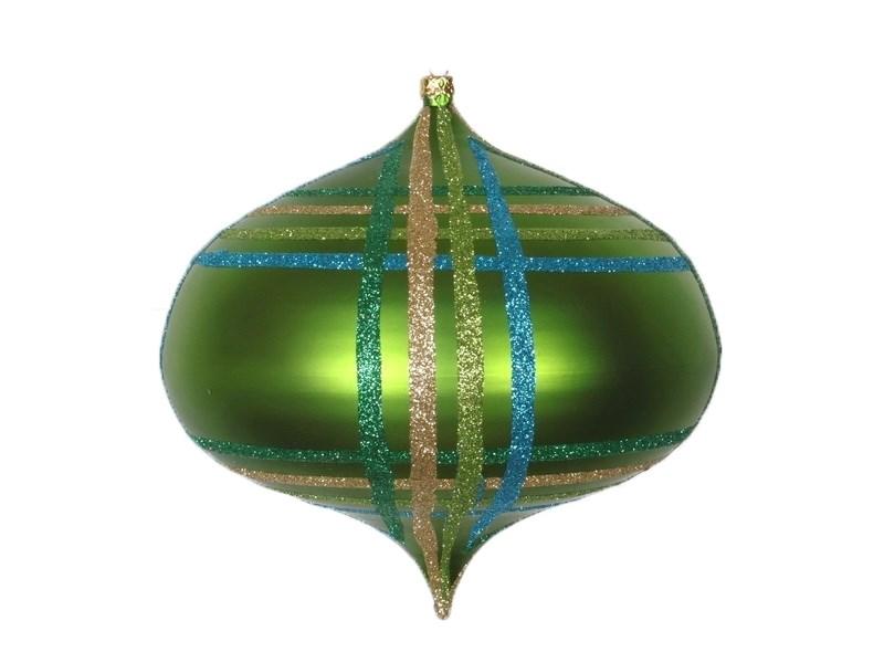 Украшение новогоднее подвесное Neon-Night Волчок, цвет: зеленый, мульти, 16 см502-284Елочная фигура Волчок, 16 см, из пластика, цвет зеленый матовый, полоски мульти с блестками