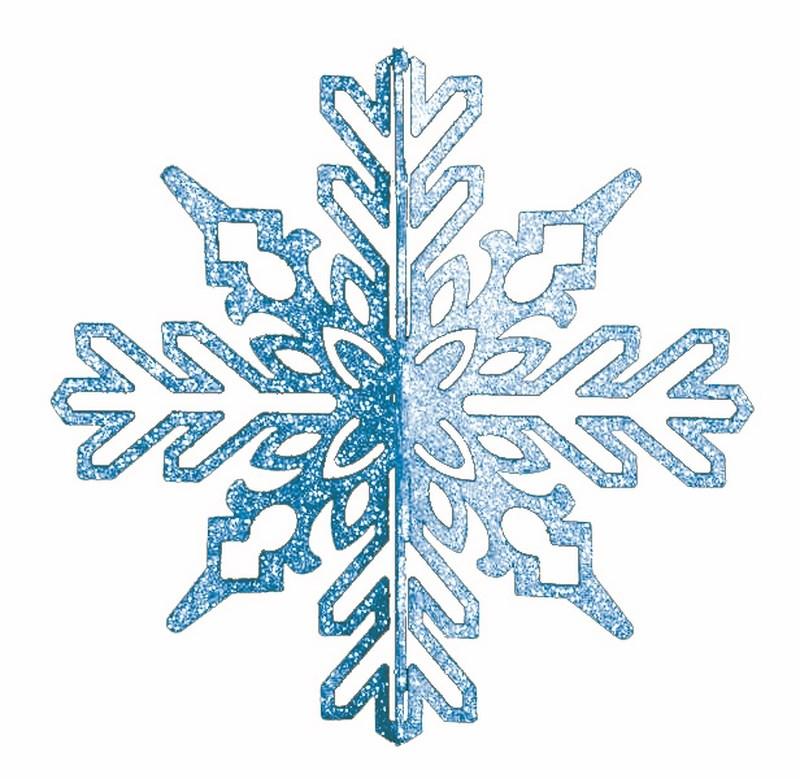 Украшение новогоднее подвесное Neon-Night Снежинка ажурная 3D, цвет: синий, 23 см502-333Елочная фигура Снежинка ажурная 3D, 23 см, цвет синий с блестками