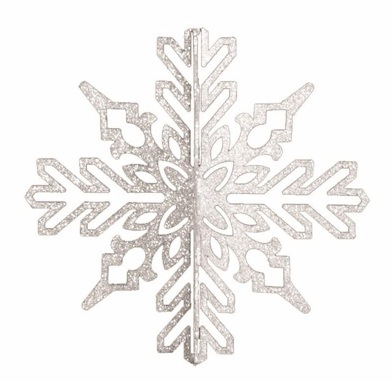 Украшение новогоднее подвесное Neon-Night Снежинка ажурная 3D, цвет: серебряный, 35 см502-346Новогоднее подвесное украшение Neon-Night отлично подойдет для декорации вашего дома и новогодней ели. Новогоднее украшение можно повесить в любом понравившемся вам месте. Но, конечно, удачнее всего оно будет смотреться на праздничной елке.Елочная игрушка - символ Нового года. Она несет в себе волшебство и красоту праздника. Такое украшение создаст в вашем доме атмосферу праздника, веселья и радости.