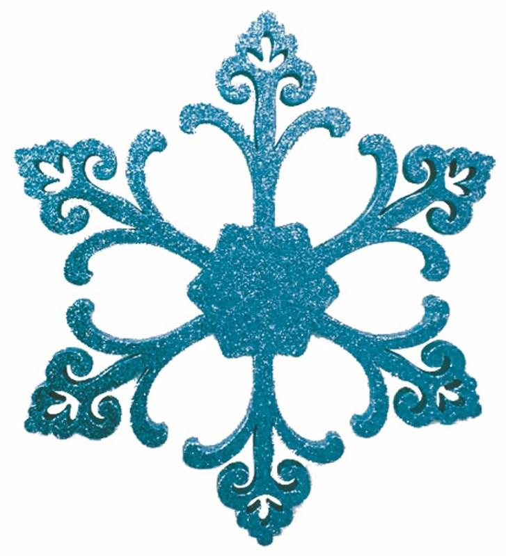 Украшение декоративное Neon-Night Снежинка. Морозко, цвет: синий, 66 см502-372Елочная фигура Снежинка Морозко, 26 см, цвет синий с блестками