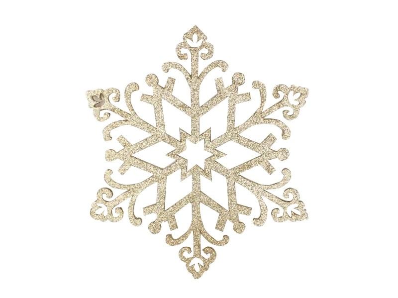 Украшение декоративное Neon-Night Снежинка. Сегурочка, цвет: золотой, 81 см502-379Елочная фигура Снежинка Морозко, 32 см, цвет золотой с блестками