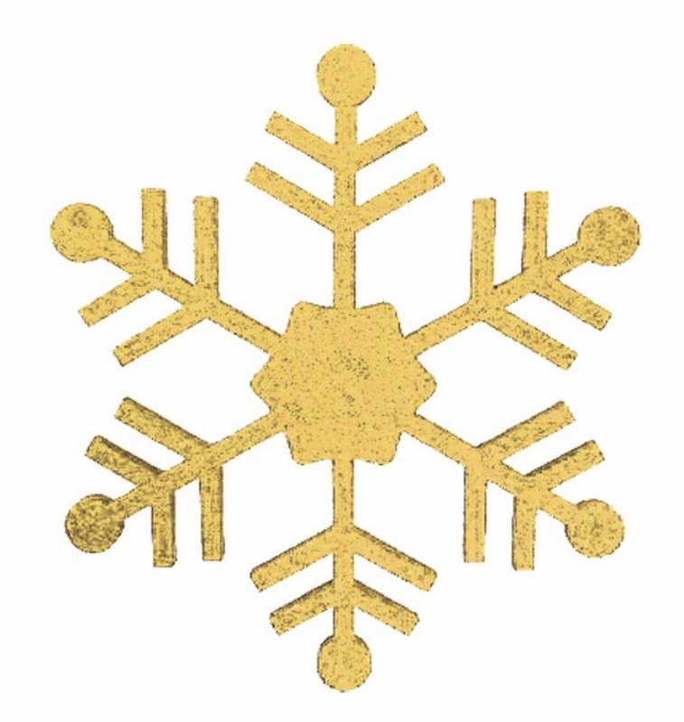 Украшение новогоднее подвесное Neon-Night Снежинка классическая, цвет: золотой, 66 см502-386Елочная фигура Снежинка классическая, 26 см, цвет золотой с блестками