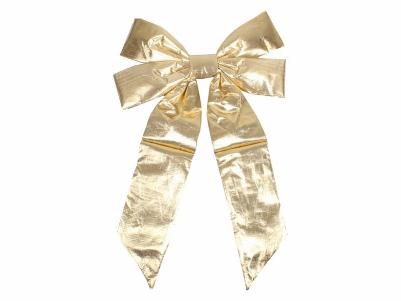 Украшение новогоднее подвесное Neon-Night Бантик, цвет: золотой, 45 см502-511Новогоднее подвесное украшение Neon-Night отлично подойдет для декорации вашего дома и новогодней ели. Новогоднее украшение можно повесить в любом понравившемся вам месте. Но, конечно, удачнее всего оно будет смотреться на праздничной елке.Елочная игрушка - символ Нового года. Она несет в себе волшебство и красоту праздника. Такое украшение создаст в вашем доме атмосферу праздника, веселья и радости.