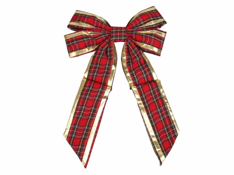 Украшение новогоднее подвесное Neon-Night Бантик, цвет: красный, золотой, 45 см502-512Елочная фигура Бантик, 45 см, цвет красный матовый и золотой глянцевый
