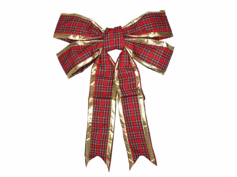 Украшение новогоднее подвесное Neon-Night Бантик, цвет: красный, золотой, 91 см новогоднее подвесное украшение собака ф21 1716