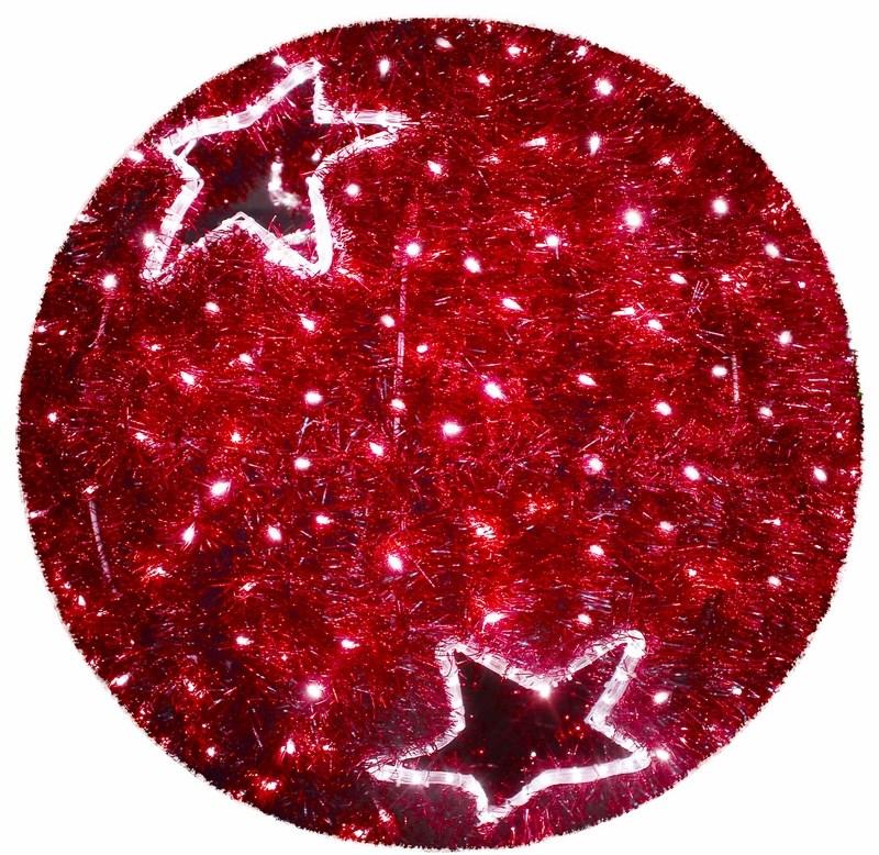 Фигура Neon-Night Шар, LED подсветка, цвет: красный, диаметр 40 см506-211Эти изделия не потребуют дополнительных затрат для монтажа. Световые фигуры с дюралайтом нужно просто установить в желаемом месте и подвести питание 220 В. Фигура VFS- 40 Шар, LED подсветка диам. 40см, красный NEON-NIGHT