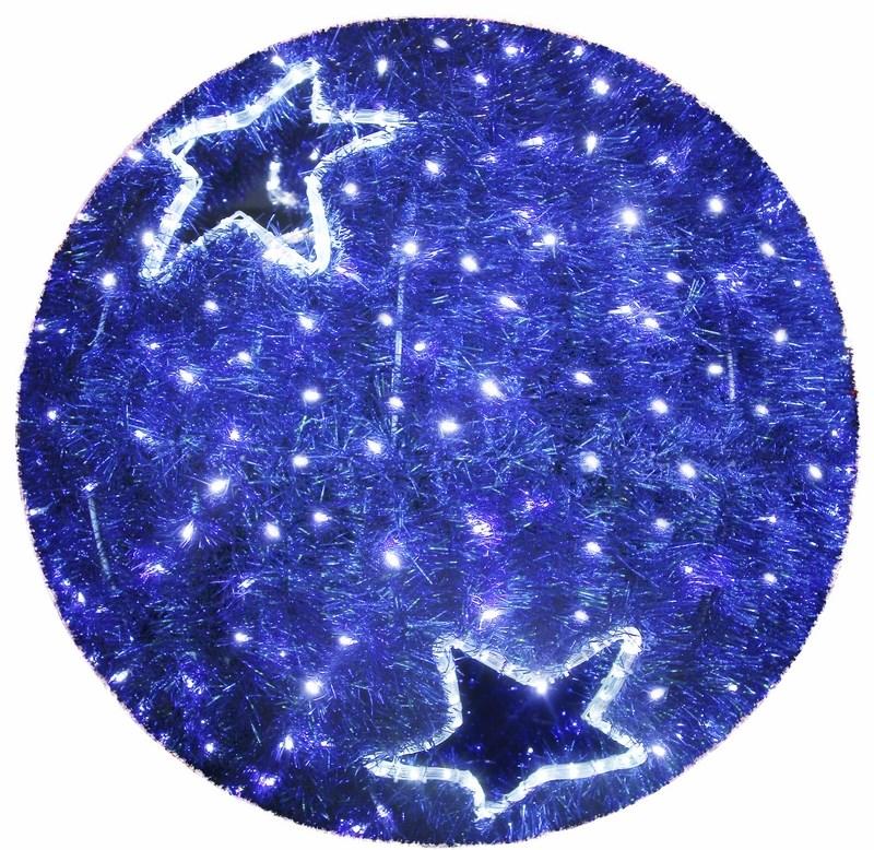 Фигура Neon-Night Шар, LED подсветка, цвет: синий, диаметр 80 см506-214Эти изделия не потребуют дополнительных затрат для монтажа. Световые фигуры с дюралайтом нужно просто установить в желаемом месте и подвести питание 220 В. Фигура VFS- 80 Шар, LED подсветка диам. 80см, синий NEON-NIGHT