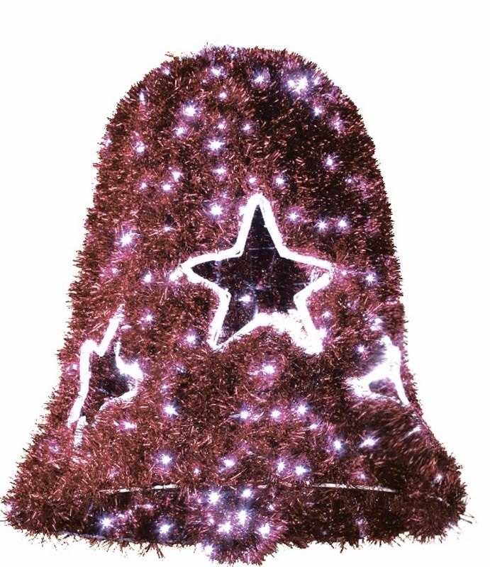 Фигура Neon-Night Колокол, LED подсветка, цвет: красный, диаметр 75 см, высота 80 см506-263Фигуры из дюралайта. Для изготовления данных фигур используют светодиодный дюралайт и металлический каркас. Этим способом можно создавать световые фигуры любой формы – от снеговиков и снежинок до красочных надписей. Сегодня на рынке более распространенными являются фигуры с применением дюралайта, основанного на лампах накаливания. Но они обладают яркостью, не отвечающей запросам современных дизайнеров, и очень недолговечны. Поэтому своим клиентам мы предлагаем световые изделия высочайшего качества, выполненные на основе отлично себя зарекомендовавших светодиодов. Такая продукция несколько дороже ламповой, но ее отличает высокая надежность, долговечность и низкое энергопотребление. А наиболее впечатляющим достоинством фигур из светодиодного дюралайта является несравнимая с лампами яркость. Сочные, красочные цвета свечения таких LED фигур открывают невообразимые просторы для творчества световым дизайнерам, отвечающим за праздничное настроение. Созданные на основе светодиодного дюралайта