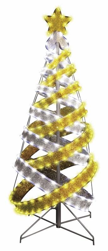 Декоративная ель Neon-Night в стиле Хайтек, светодиодная, 767 LED, с постоянным свечением, 180 см506-276Елка основана на пересекающихся светящихся кольцах разного размера, что добавляет ей необычности и завораживающей эффектности. Благодаря уникальной конструкции ее очень легко установить, а после праздничного периода можно очень компактно сложить без каких-либо значительных усилий и не потратив при этом много времени!