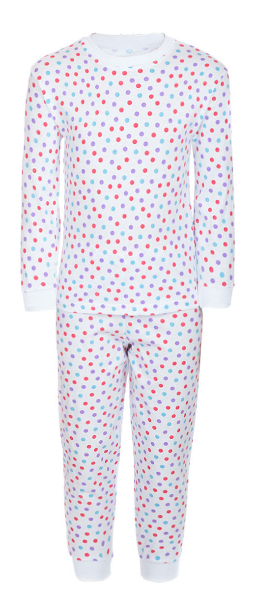 Пижама детская M&D, цвет: белый, мультиколор. ПЖ180325. Размер 92 перчатки reike
