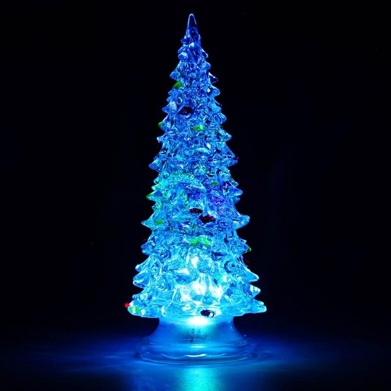 Фигура светодиодная Neon-Night Елочка, цвет: красный, зеленый, синий, высота 15 см светодиодное дерево neon night яблоня цвет красный теплый белый 150 см