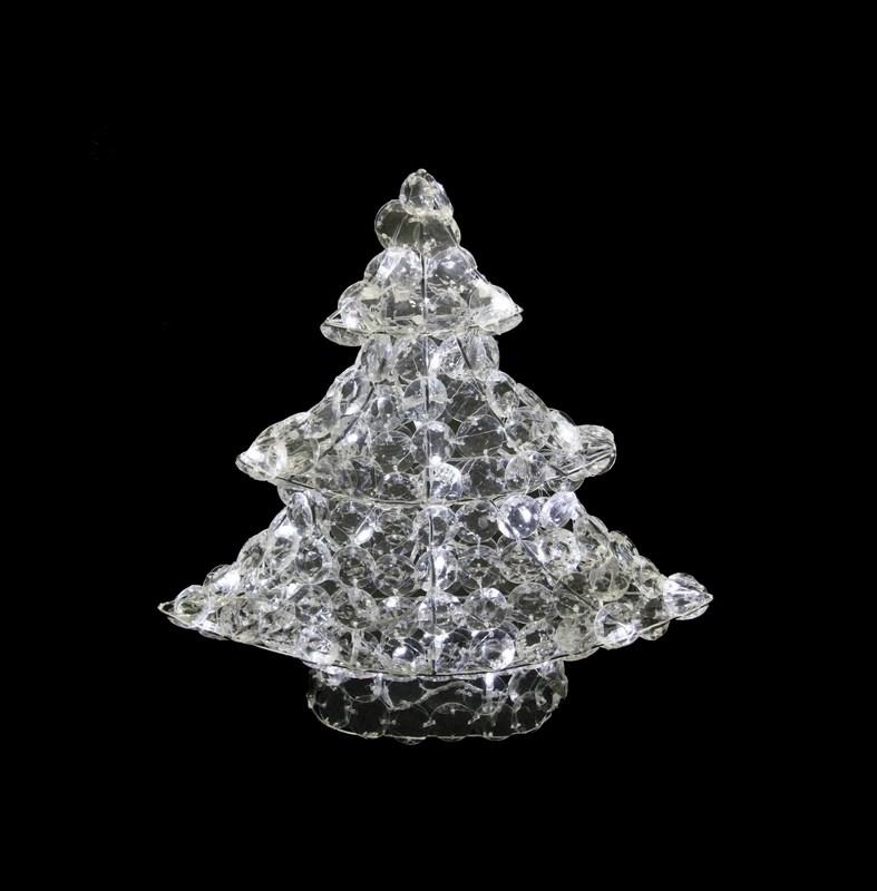 Фигура Neon-Night стеклянная Новогодняя Ель, светодиодная, 50 LED, с понижающим трансформатором, 40 см513-265Акриловые фигуры за несколько лет вызвали большой интерес у дизайнеров и частных клиентов. С каждым годом расширяется не только ассортимент акриловых фигур, но и появляются новые технологии нанесения акрила. Эти яркие, светящиеся объемные фигуры, состоящие из металлического каркаса, крупных акриловых кристалов и светодиодов, применяются для оформления и создания новогодней атмосферы в кафе, ресторанах, торговых центрах, магазинах, на площадях и перед входом, а также просто в частных домах и квартирах. Все фигуры укомплектованы понижающим трансформатором , что обеспечивает безопасность при контактировании, а так же имеют степень защиты IP 44, что позволяет использовать их как в помещении, так и на улице. Акриловая светодиодная фигура Новогодняя Ель высотой 40 см, светящаяся более чем 50 ярких диодов, выполнена по специальной технологии создания крупных акриловых кристалов. Она позволит Вам создать ту самую, настояющую новогоднюю атмосферу и принести сотни радостных улыбок.