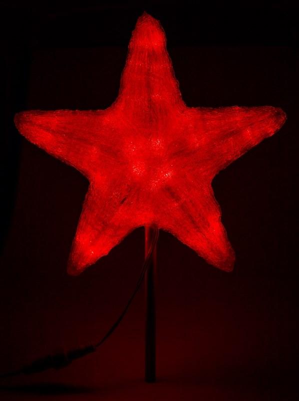 Фигура акриловая Neon-Night Звезда, светодиодная, 240 LED, цвет: красный, 80 см513-482Акриловые фигуры за несколько лет вызвали большой интерес у дизайнеров и частных клиентов. С каждым годом расширяется не только ассортимент акриловых фигур, но и появляются новые технологии нанесения акрила. Эти яркие, светящиеся объемные фигуры, состоящие из металлического каркаса, акрила и светодиодов, применяются для оформления и создания новогодней атмосферы в кафе, ресторанах, торговых центрах, магазинах, на площадях и перед входом, а также просто в частных домах и квартирах. Все фигуры укомплектованы понижающим трансформатором , что обеспечивает безопасность при контактировании, а так же имеют степень защиты IP 44, что позволяет использовать их как в помещении, так и на улице.