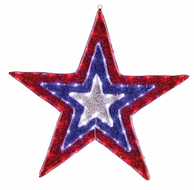 Фигура Звезда бархатная, размеры 91 см (129 светодиод красный+голубой+белый цвета)514-022Фигура Звезда имеет цветовое заполнение из специального материала, благодаря этому она выглядит празднично не только в темное время суток, когда радует глаз своим свечением, но и днем, отражая свет и переливаясь при попадании солнечных лучей.