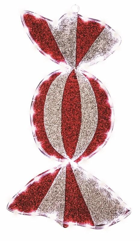 Фигура Карамель бархатная, с постоянным свечением, размеры 60*30 см (45 БЕЛЫХ LED)514-051Фигура Карамель имеет цветовое заполнение из специального материала, благодаря этому она выглядит празднично не только в темное время суток, когда радует глаз своим свечением, но и днем, отражая свет и переливаясь при попадании солнечных лучей. Фигура Леденец не только доставляет радость детям, но и позволяет взрослым погрузиться в сказочный мир детства и вспомнить о тех радостных моментах празднования Нового Года и Рождества!