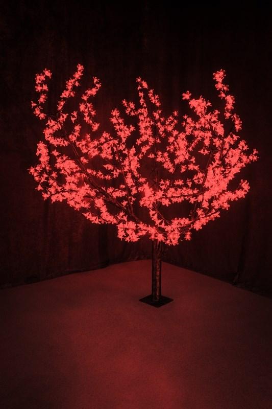 Светодиодное дерево Neon-Night Сакура, цвет: красный, диаметр кроны 180 см, высота 150 см531-102Световое дерево Сакура представляет собой имитацию цветущей японской сакуры. Оно используется для декоративного освещения интерьеров и ландшафтов. Такое дерево может стать прекрасным украшением для вашего дома, офиса, торгового зала, кафе, ресторана или загородного участка. Оно создаст уют, придаст оригинальный стиль и необходимый вам колорит независимо от времени года.Конструкция имеет лекгосплавной каркас в оболочке из темного пластика. На ветках дерева расположены яркие светодиодные гирлянды с силиконовыми насадками (цветками). Светодиодное дерево выглядит очень натурально. Питание осуществляется через сетевой трансформатор, поэтому изделие является низковольтным и может использоваться в уличных условиях.Диаметр кроны: 1,8 м.Высота дерева: 1,5 м.864 лепестка.