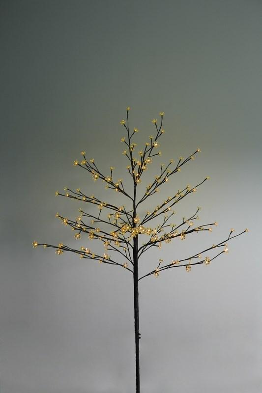Дерево комнатное Neon-Night Сакура, светодиодное, 80 LED, с трансформатором, цвет: желтый, 120 см531-241Дерево комнатное Сакура, коричневый цвет ствола и веток, высота 1,2 метра, 80 светодиодов желтого цвета, трансформатор IP44, длина шнура питания 10 метров, основание металлическая крестовина