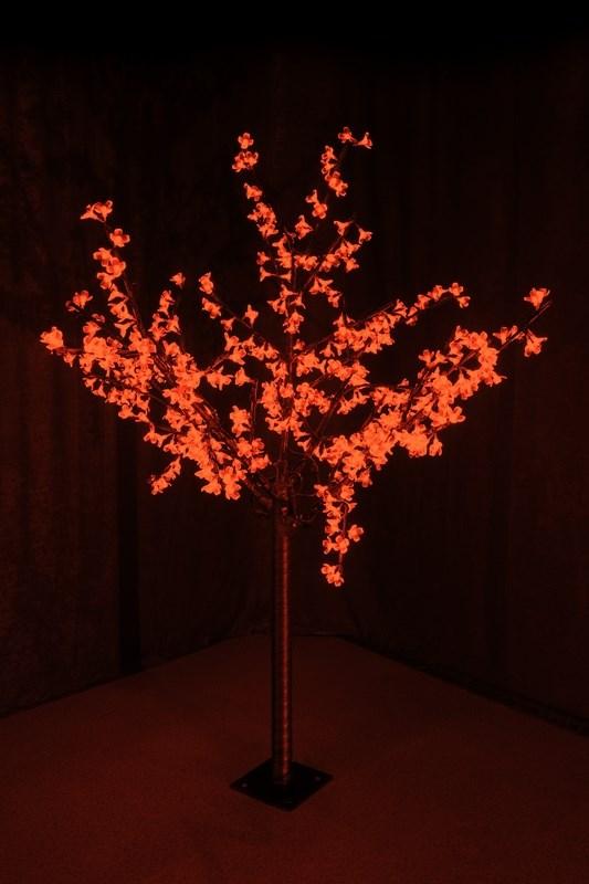 Светодиодное дерево Neon-Night Сакура, цвет: красный, диаметр кроны 130 см, высота 150 см531-302Световое дерево Сакура представляет собой имитацию цветущей японской сакуры. Оно используется для декоративного освещения интерьеров и ландшафтов. Такое дерево может стать прекрасным украшением для вашего дома, офиса, торгового зала, кафе, ресторана или загородного участка. Оно создаст уют, придаст оригинальный стиль и необходимый вам колорит независимо от времени года.Конструкция имеет лекгосплавной каркас в оболочке из темного пластика. На ветках дерева расположены яркие светодиодные гирлянды с силиконовыми насадками (цветками). Светодиодное дерево выглядит очень натурально. Питание осуществляется через сетевой трансформатор, поэтому изделие является низковольтным и может использоваться в уличных условиях.Диаметр кроны: 1,3 м.Высота дерева: 1,5 м. 480 диодов. 220-24В, 30Вт.