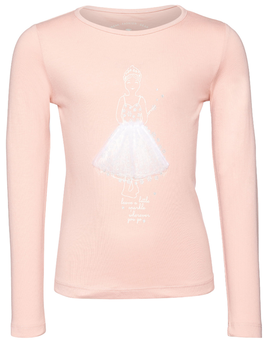 Лонгслив для девочки Tom Tailor, цвет: розовый. 1036030.40.81_5480. Размер 116/122 леггинсы для девочки tom tailor цвет красный 6828904 40 81 4713 размер 116 122